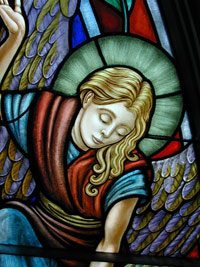 Detail, Our Lady of the Mountains Church, North Conway, NH