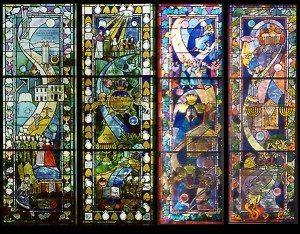 Aisle Windows at Temple Beth El, Belmont, Ma