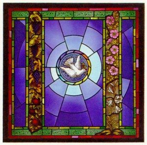 Dove Window in the Chapel in Newton Wellesley Hospital, Newton, Ma.
