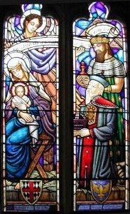 Detail, Nativity Window, St. George's School Chapel, Middletown, RI