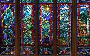 Detail of the Great Altar Window, St. George's School, Middletown, RI