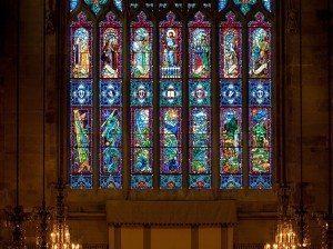 Detail of Great Altar Window, St. George's School, Middletown, RI