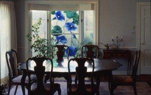 Morning Glory Window, Dining Room, Residence, Massachusetts.