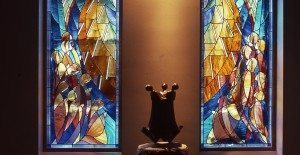 Stained Glass Windows and Bronze Sculpture in Addison Gilbert Hospital, Gloucester, Ma.
