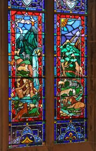 Detail from The Great Altar Window, St. George's School, Middletown, RI