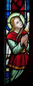 Detail from The Great Altar Window, St. George'sSchool, Middletown, RI