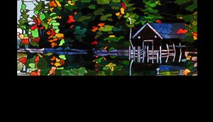 Detail of Boat House Window, Residence, Squam Lake, NH