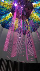 Original Design Skylite by Lyn Hovey, Sculpture by Michio Ihara, for Advent Chapel, St. John's University, Taipei, Taiwan