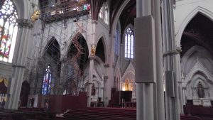 Restoration of Nineteenth Century Clerestory windows at the Cathedral of the Holy Cross, Boston, Ma.