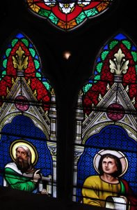 Nineteenth Century Clerestory windows restored, Cathedral of the Holy Cross, Boston, Ma.
