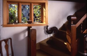 Leaded Glass Stairway Window with Rondels, Residence, Rockport, Ma.